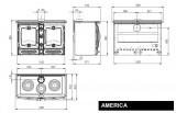 Luxusní krbový sporák America DOPRAVA A KOUŘOVODY ZDARMA La Nordica