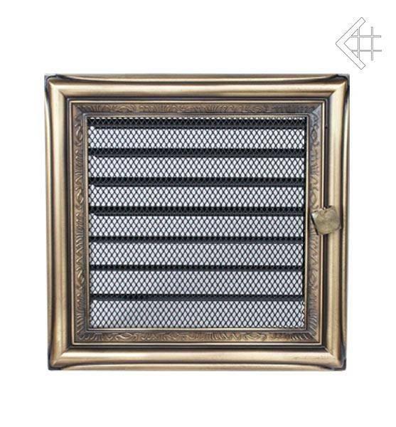 Ventilační mřížka 17x17 rustikální s žaluzií - KRATKI