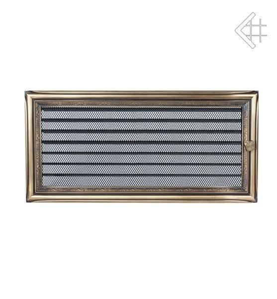 Ventilační mřížka 17x37 rustikální s žaluzií - KRATKI