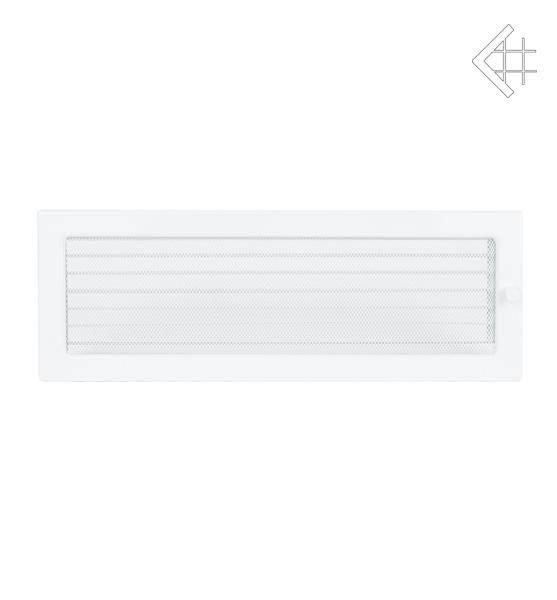 Ventilační mřížka 17x49 bílá s žaluzií - KRATKI
