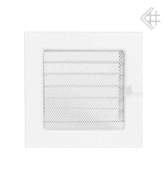 Ventilační mřížka 22x22 bílá s žaluzií - KRATKI