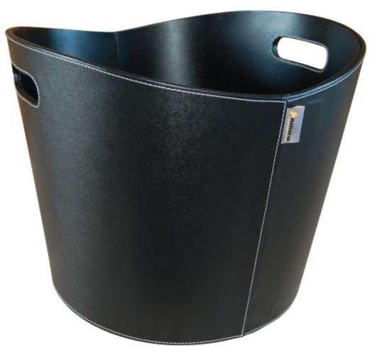 Aduro koš Proline 1 černá umělá kůže - DOPRAVA ZDARMA