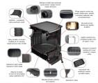 Litinová krbová kamna Kratki Koza K9 ∅ 150 s ventilátorem Turbofan - DOPRAVA ZDARMA