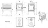 Litinová krbová kamna Kratki Koza K10 ∅ 150 s automatickým řízením přívodu vzduchu - DOPRAVA ZDARMA