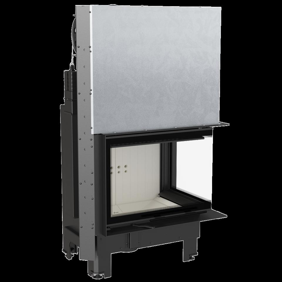 Kratki krbová vložka MBZ/P/BS/G/SG 13 kW pravé boční prosklení,ohýbané sklo, gilotina DOPRAVA A KOUŘOVODY ZDARMA