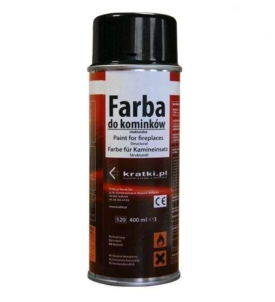 Kratki Barva na vložky litinové - spray 400 ml - černá