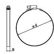 KRATKI regulovatelná spona kovová UNI 80-175 mm