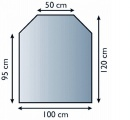 Lienbacher 21.02.889.2 sklo pod kamna, 8 mm