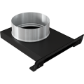 Kratki přívod ext.vzduchu 125mm pro vložky ANTEK, MAJA , SIMPLE