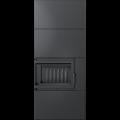 Kratki krbová stavebnice SIMPLE BOX rohový levý černý