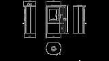 Teplovzdušná krbová kamna Kratki FALCON 9 panoramatické sklo sklo DOPRAVA ZDARMA