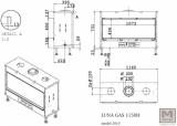 Krbová vložka na plyn LUNA 1150 H gold GAS M DESIGN