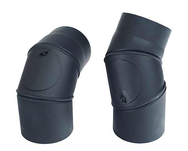 Kouřovod koleno stavitelné + čistící 0°- 90°, Ø 130 mm Kraus
