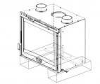Krbová vložka Insert 50 Crystal Vertikal s ventilátory DOPRAVA A KOUŘOVODY ZDARMA La Nordica