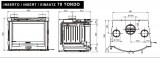 Krbová vložka Insert 70 oblá s ventilátory DOPRAVA A KOUŘOVODY ZDARMA La Nordica