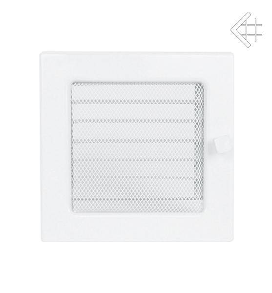 Ventilační mřížka 17x17 bílá s žaluzií - KRATKI