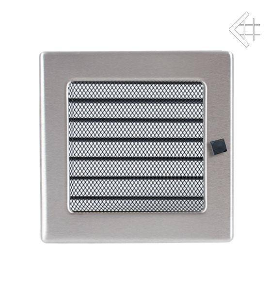 Ventilační mřížka 17x17 nerezová s žaluzií - KRATKI