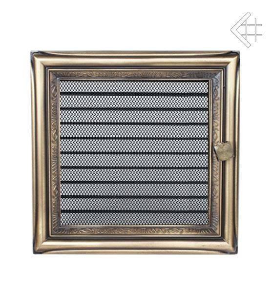 Ventilační mřížka 22x22 rustikální s žaluzií - KRATKI