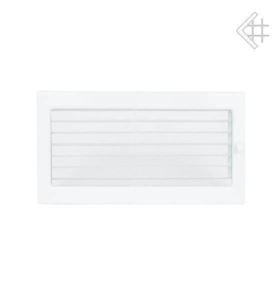 Ventilační mřížka 22x45 bílá s žaluzií - KRATKI